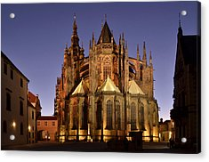 Acrylic Print featuring the photograph St Vitus Cathedral Prague by Marek Stepan