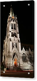 St. Xavier Full Height At Night Acrylic Print