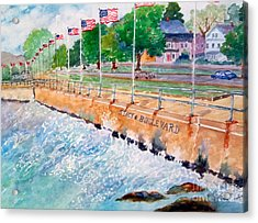Stacey Boulevard,gloucester, Ma Acrylic Print by Kathryn G Roberts