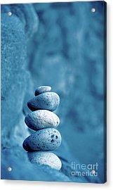 Stacked Pebbles Acrylic Print by Gaspar Avila