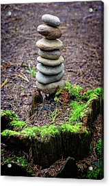 Acrylic Print featuring the photograph Stacked Stones And Fairy Tales II by Marco Oliveira