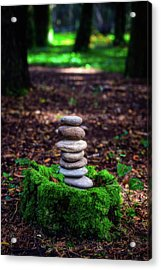 Acrylic Print featuring the photograph Stacked Stones And Fairy Tales Iv by Marco Oliveira