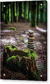 Acrylic Print featuring the photograph Stacked Stones And Fairy Tales by Marco Oliveira
