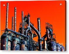 Stacks Of Steel Pop Art In Bethlehem Acrylic Print