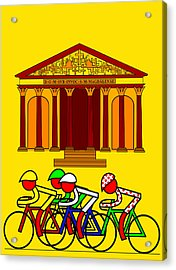 Stage 21  They Pass By L'eglise De La Madeleine Acrylic Print