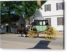 Stage Coach Acrylic Print by Eric Liller