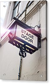 Stage Door Sign Acrylic Print