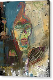 Stage Fright Acrylic Print by Russell Pierce