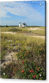 Stage Harbor Lighthouse Cape Cod Acrylic Print by John Burk