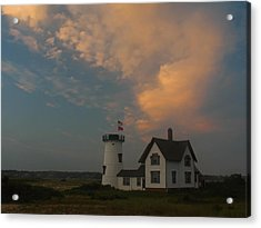 Stage Harbor Lighthouse Acrylic Print by Juergen Roth