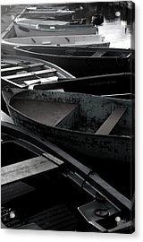 Staggered Boats Acrylic Print by Jez C Self