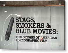 Stags Smokers And Blue Movies Acrylic Print by James Zuffoletto