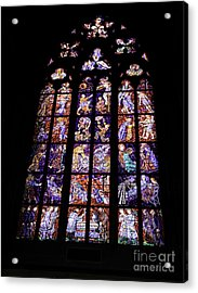 Stain Glass Window Acrylic Print by Madeline Ellis