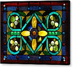 Stained Glass 1 Acrylic Print by Timothy Bulone