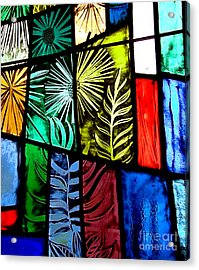 Stained Glass 3 Acrylic Print by Windi Rosson