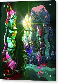 Stained Glass #4719_2 Acrylic Print by Barbara Tristan