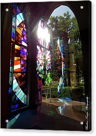 Stained Glass #4720 Acrylic Print by Barbara Tristan