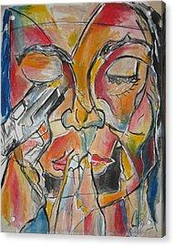 Stained Glass Assassinatiion Acrylic Print by Jon Baldwin  Art