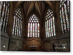 Stained Glass At Wells Acrylic Print