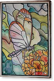 Stained Glass Butterfly Acrylic Print