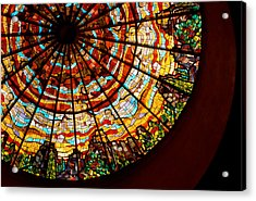 Stained Glass Ceiling Acrylic Print by Jerry McElroy