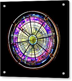 Acrylic Print featuring the photograph Stained Glass by John Hix