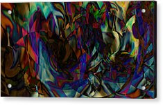 Stained Glass Acrylic Print by Joshua Sunday