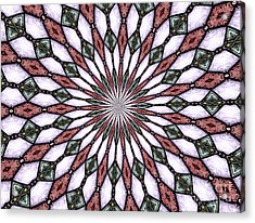 Stained Glass Kaleidoscope 2 Acrylic Print by Rose Santuci-Sofranko