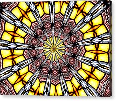 Stained Glass Kaleidoscope 23 Acrylic Print by Rose Santuci-Sofranko
