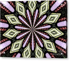 Stained Glass Kaleidoscope 25 Acrylic Print by Rose Santuci-Sofranko