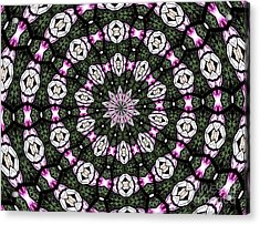 Stained Glass Kaleidoscope 3 Acrylic Print by Rose Santuci-Sofranko