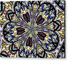 Stained Glass Kaleidoscope 38 Acrylic Print by Rose Santuci-Sofranko