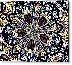 Stained Glass Kaleidoscope 38 Acrylic Print by Rose Santuci-Sofranko
