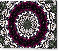 Stained Glass Kaleidoscope 4 Acrylic Print by Rose Santuci-Sofranko
