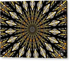 Stained Glass Kaleidoscope 5 Acrylic Print by Rose Santuci-Sofranko