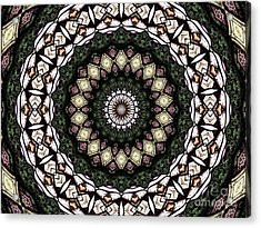 Stained Glass Kaleidoscope 6 Acrylic Print by Rose Santuci-Sofranko