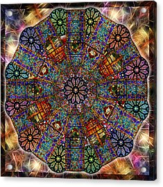 Stained Glass Mandala Acrylic Print