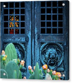 Stained Glass Mausoleum Acrylic Print