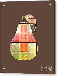 Stained Glass Pear Acrylic Print