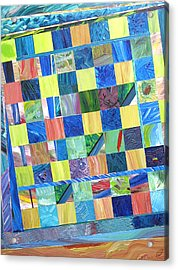 Stained Glass Sanctuary Acrylic Print by Eric Devan