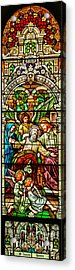 Acrylic Print featuring the photograph Stained Glass Scene 1 by Adam Jewell