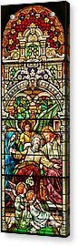 Acrylic Print featuring the photograph Stained Glass Scene 1 Crop by Adam Jewell
