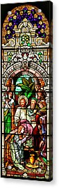Acrylic Print featuring the photograph Stained Glass Scene 11 Crop by Adam Jewell