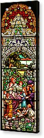 Acrylic Print featuring the photograph Stained Glass Scene 12 by Adam Jewell