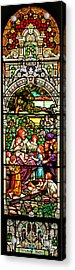 Acrylic Print featuring the photograph Stained Glass Scene 12 Crop by Adam Jewell