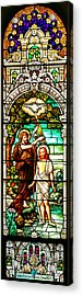 Acrylic Print featuring the photograph Stained Glass Scene 2 Crop by Adam Jewell