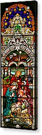 Acrylic Print featuring the photograph Stained Glass Scene 4 - 2 by Adam Jewell
