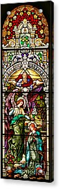 Acrylic Print featuring the photograph Stained Glass Scene 5 by Adam Jewell