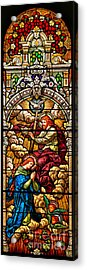 Acrylic Print featuring the photograph Stained Glass Scene 7 Crops by Adam Jewell