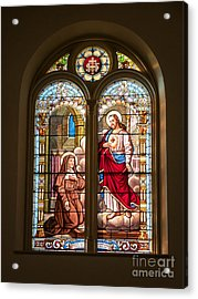 Acrylic Print featuring the photograph Stained Glass St. Stainslaus Winona Minnesota by Kari Yearous